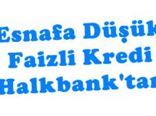 Halk Banktan Esnafa Düşük Faizli Kredi (Faizsiz Kredi)