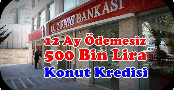 Ziraat Bankası 1 Yıl Ödemesiz 15 Yıl Vadeli Konut Kredisi